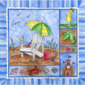 Beach Time Tile II