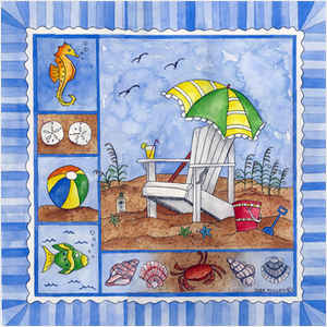 Beach Time Tile IV