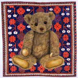 Blue and Red Quilt Teddy
