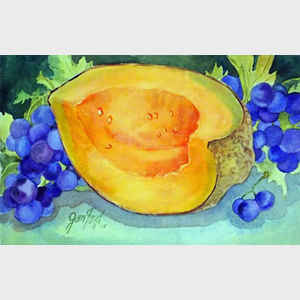 Cantaloupe with Blueberries