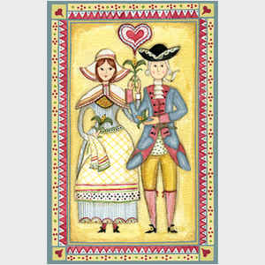 Colonial Couple Sampler