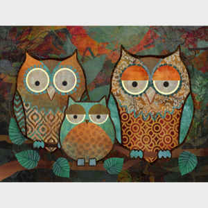 Decorative Owls III