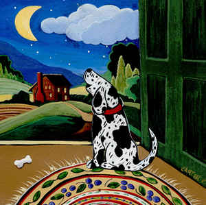 Dog and Moon tile