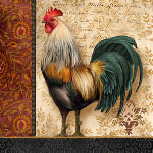 Abby Abby White French Roosters