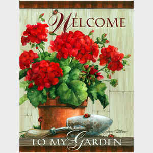Geranium Welcome - with caption