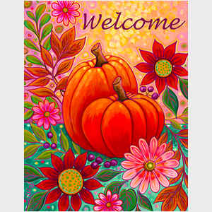 Golden Harvest Floral Welcome