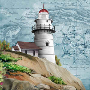 Tom Tom Wood Lighthouses: Decorative