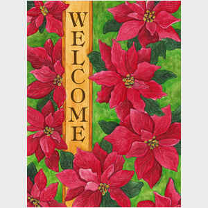 Poinsettia Welcome vertical