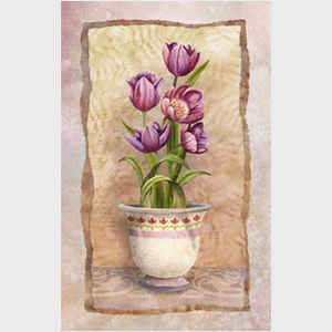 Abby Abby White Potted Florals