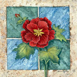 Red Poppy Tile