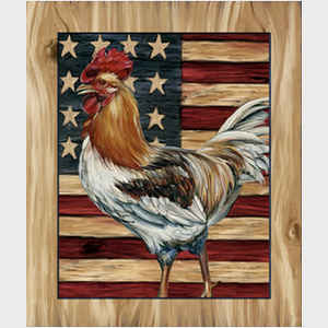 Rooster and Flag I
