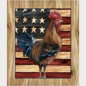 Rooster and Flag II