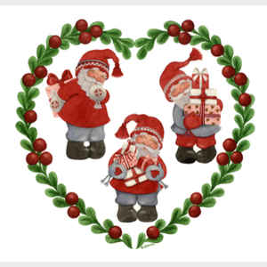 Santa's in Lingonberry Heart
