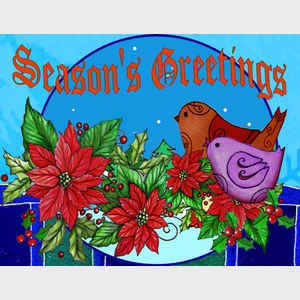 Season's Greetings Birds