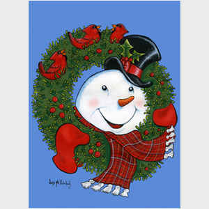 Song of Cheer Wreath Snowman