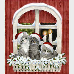 Three Santa Kittens