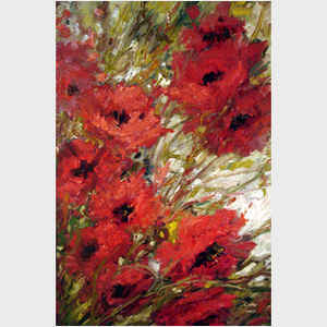 Windblown Poppies I