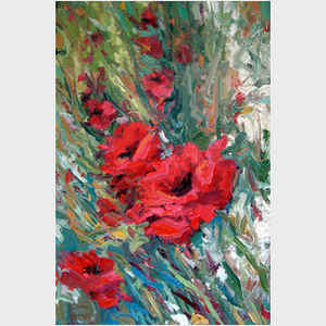 Windblown Poppies II